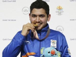15 year old Anish Bhanwala won gold in the 25m rapid fire pistol event