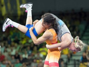 Vinesh Phogat showed off some spectacular moves in her path to the gold medal