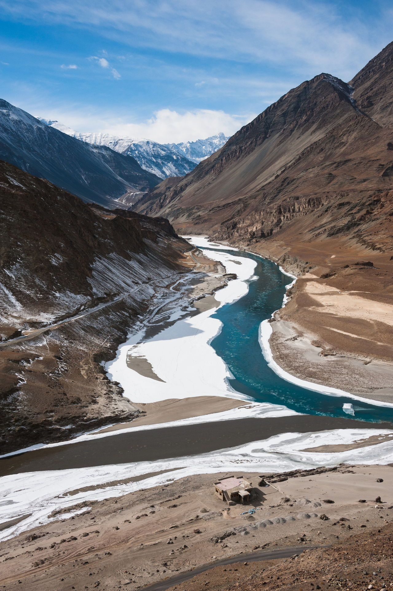 The Indus river near Leh, Ladakh
