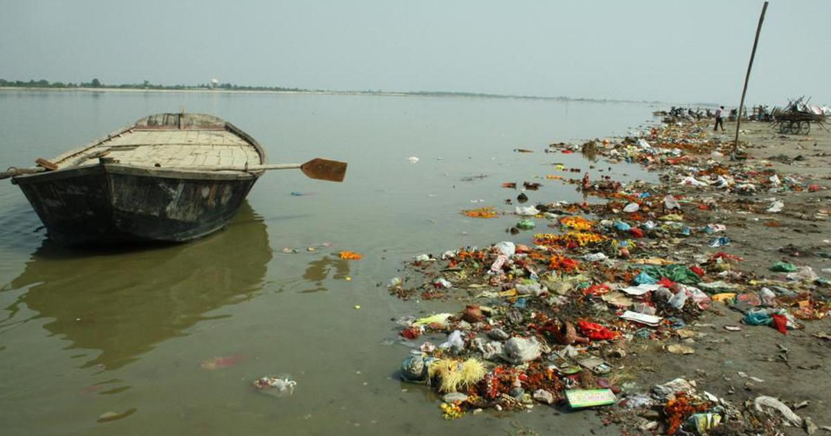 The River Ganga is the most polluted river in India (slug on top: Dirtiest)